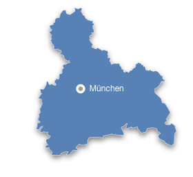 Karte Oberbayern Regionen.Munchen Oberbayern